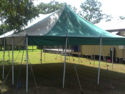 6m x 9m Green Marquee