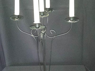 Allie - Candelabra 5 Branch - Medium - Black