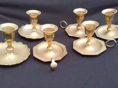 Brass Candle Holders – small