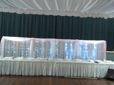 Bridal Backdrop - 2m high x 2m sections - with fairy lights