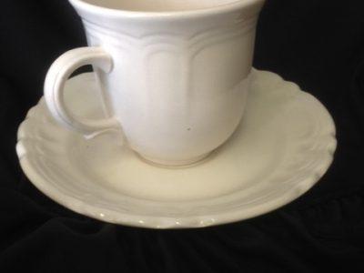 Cream Tea Cup and Saucer