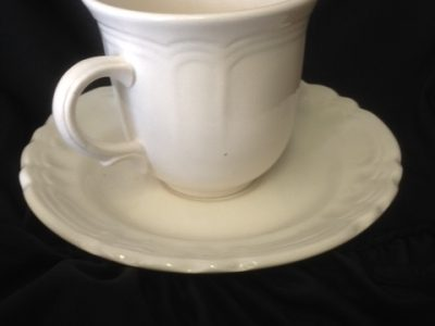 Cream Tea Cup and Saucer