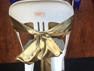 Gold Satin Chair Bow