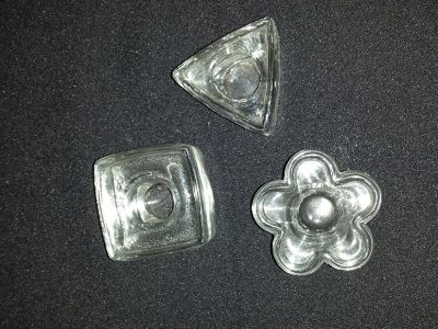 Lola - Glass square, triangle, round candle holders
